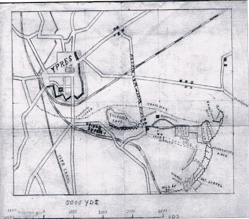 A map, hand-drawn by Walter's best friend, showing where Walter was killed.
