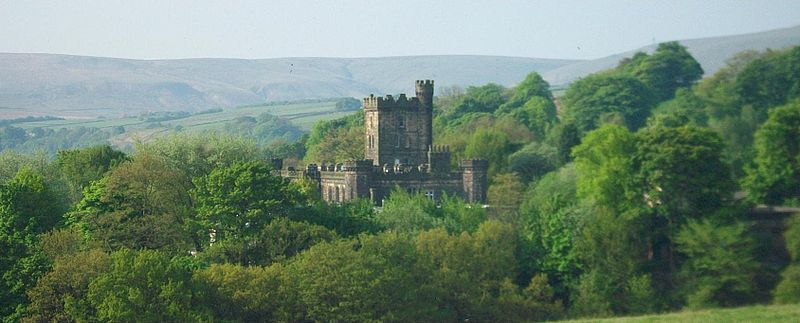 A view of Dobroyd Castle from afar. Photo by Dvprknsn via en.wikipedia, and licensed via the Creative Commons.