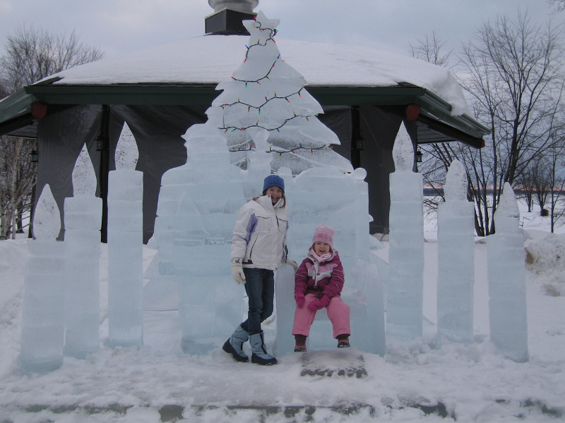 Ice Sculptures at Chateau Montebello, Québec