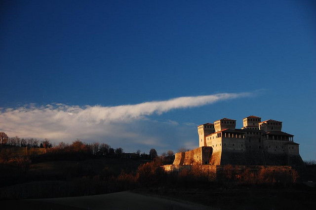 A beautiful photo of Torrechiara Castle. Photo by Silla Rizzoli via Flickr, and licensed under the Creative Commons.