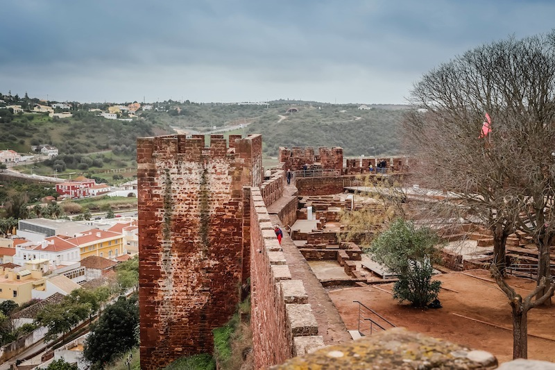 Silves Castle looks exactly like a castle I would imagine.