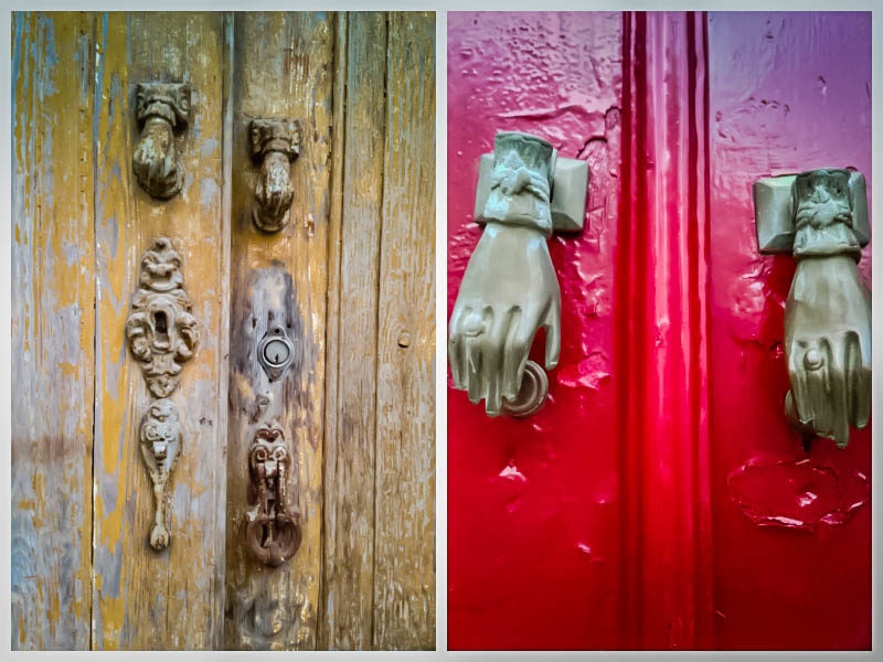 Moorish influences, such as these door knockers in the shape of a female hand, are still visible today.