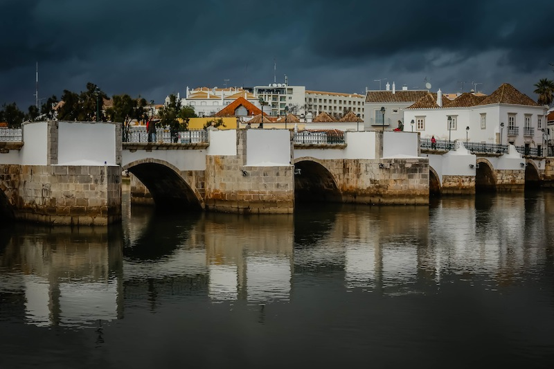 The Roman Bridge in Tavira dates back to ancient Rome, but was re-built in the 17th Century due to damage incurred by flooding.