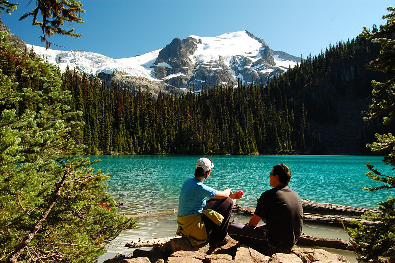 Resting at Middle Joffre Lake