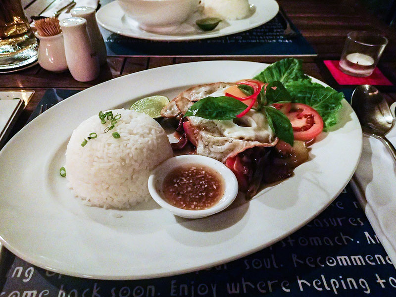 HAVEN's best dish: Beef Lok Lak prepared by Cambodia's top chef