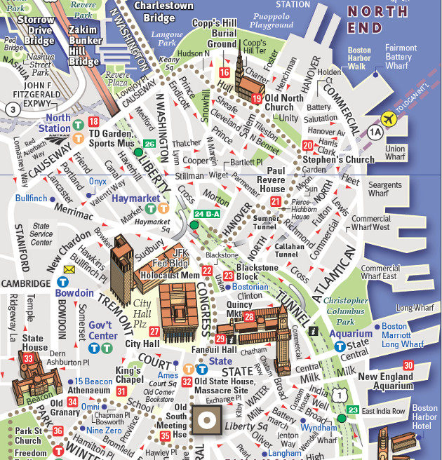 Walking Map of Boston's Freedom Trail