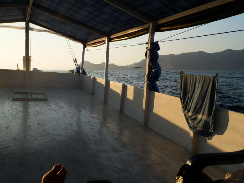 Rustic boat to Komodo Islands