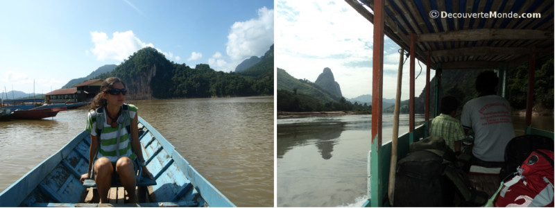 Taking a ride on the Mekong in Laos