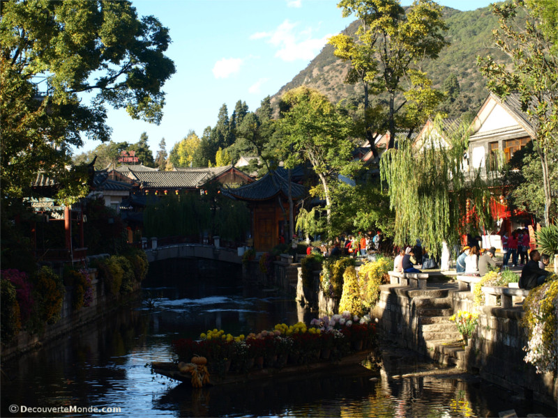 Canals along the Mekong in Lijiang China
