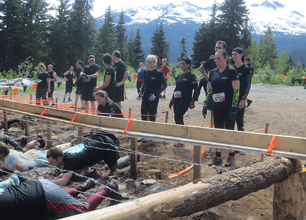Kiss the Mud Obstacle as part of Tough Mudder Challenge