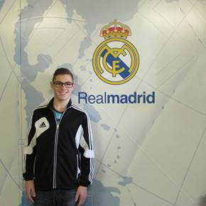 Christian, 15, cystic fibrosis, flew across the world to the RealMadrid soccer stadium, home field of his favourite Portuguese soccer idol!