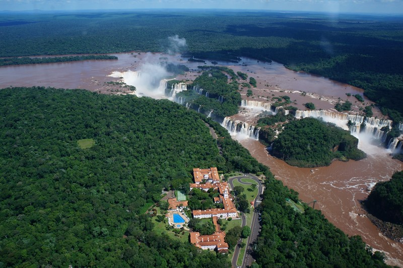 A view of the Devil's Throat, Iguazu Falls