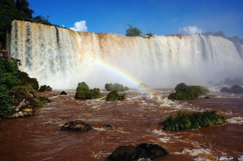 Rainbows in Iguazu Falls, Argentina