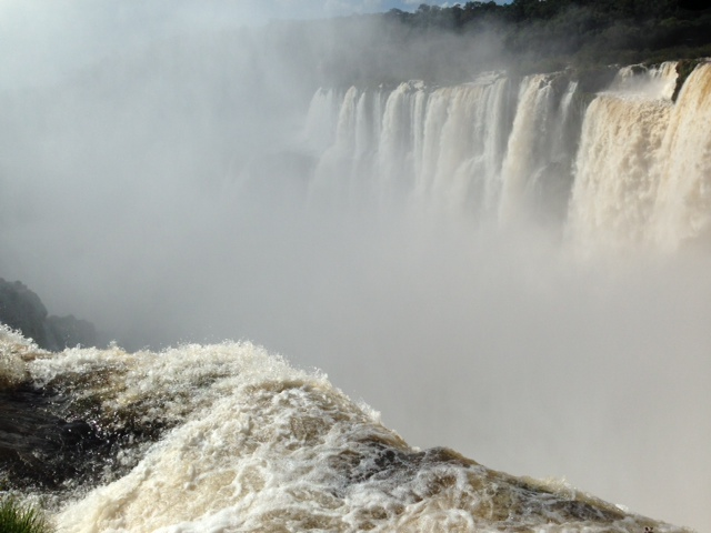 The Brazilian side of Iguazu Falls