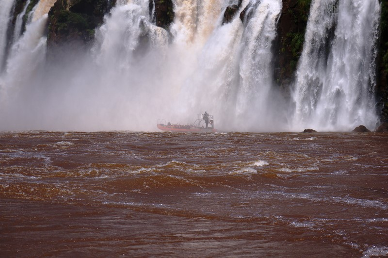 A view of Iguazu Falls on the Brazilian side by jet boat