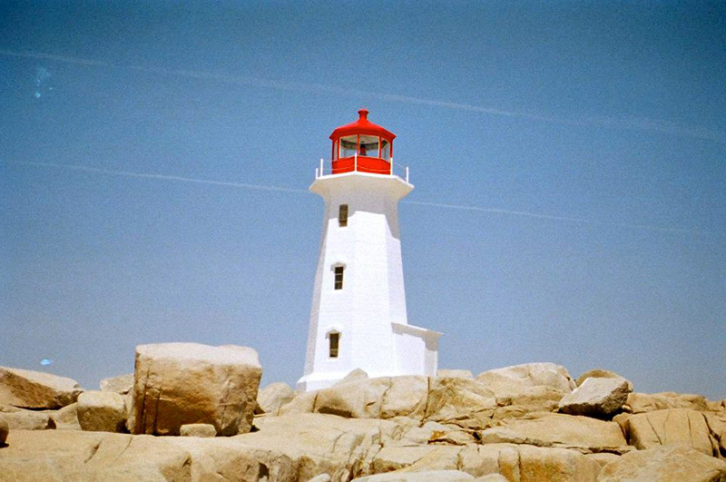 Peggy's Cove Lighthouse in Peggy's Cove, Nova Scotia