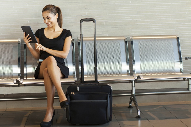 A woman travelling for business