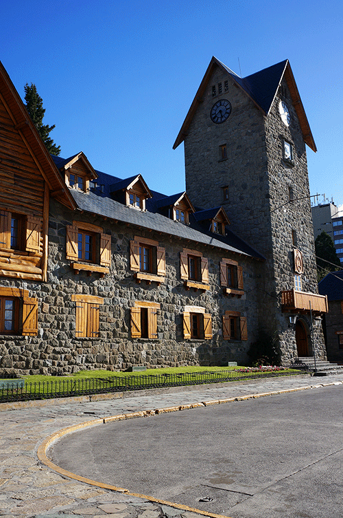Photo of Bariloche town hall, which is a tourist and ski resort, in Argentina.