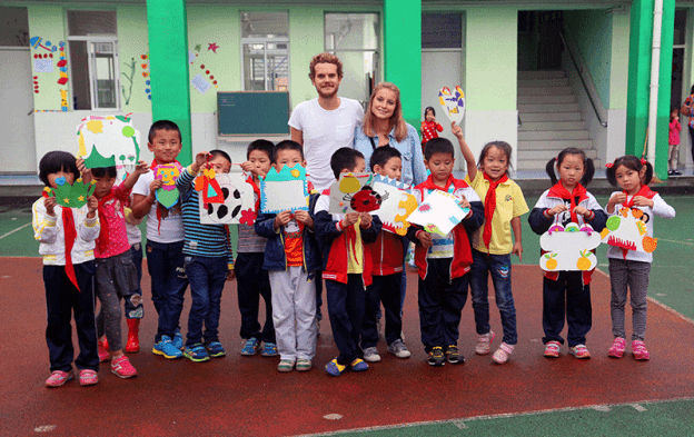 Voluntouring at Wen He school in China