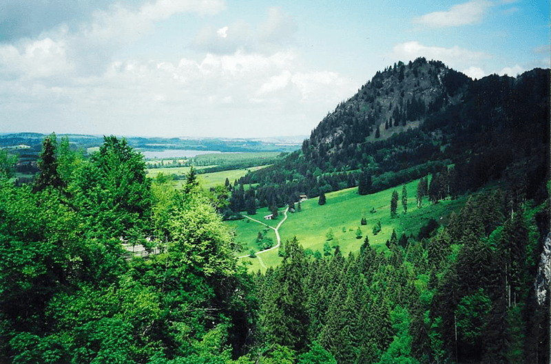 This view of the landscape near Neuschwanstein Castle is a treasured historical destinations