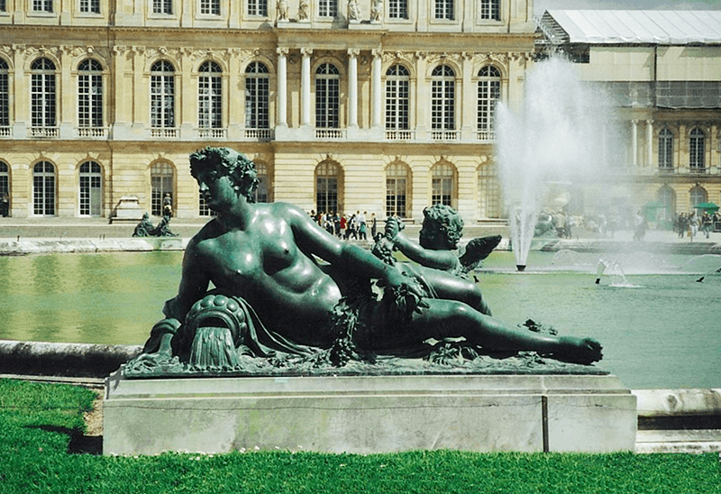 Visit the garden of Versailles to see this beautiful sculpture of a woman lying.