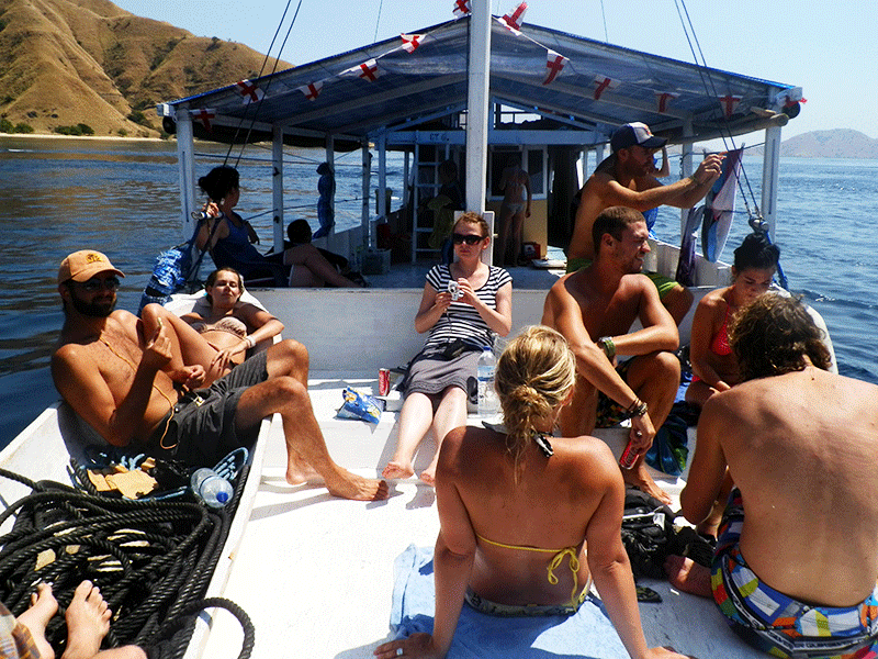 A great trip on a boat in Indonesia. At first travellers don't realize the potential dangers of the open deck Photo credit: Stephen Lerch