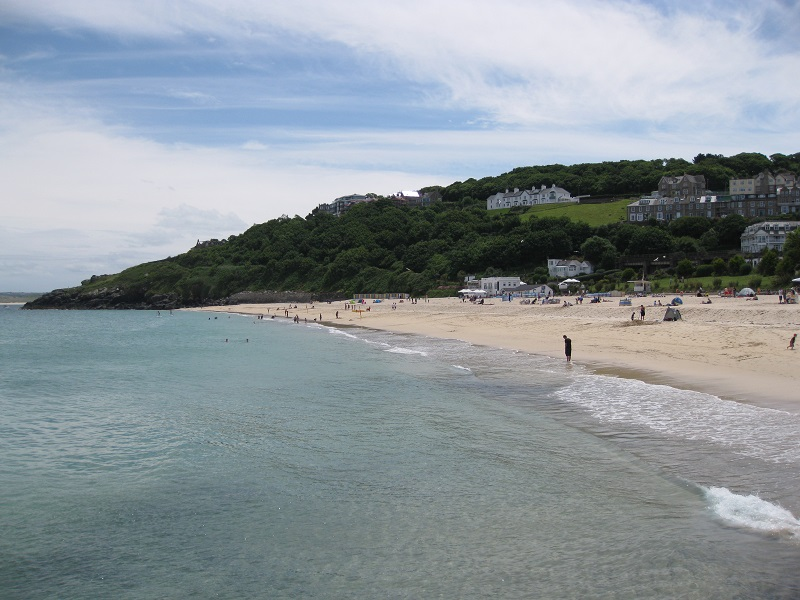 White sand in Cornwall, England