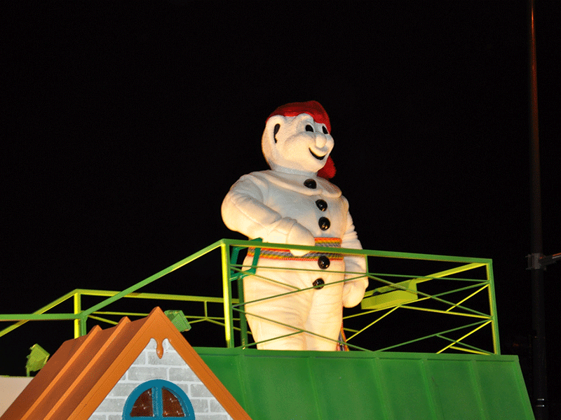 Bonhomme Carnaval is there to entertain the young and the young at heart