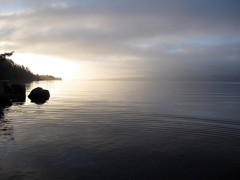 Bras D'Or Lake at the crack of dawn.