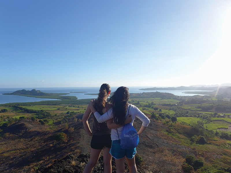 Daisy Robinson and friend enjoying the view in WavuWavu, Fiji.