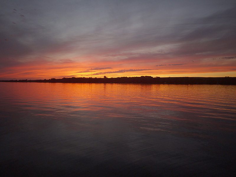 Sunset over Wakaw Lake Saskatchewan.