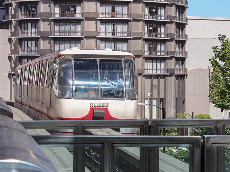 The monorail is a quick link between the Seattle Center and the Westlake Center.
