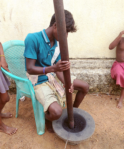 Making gun powder in Southern India