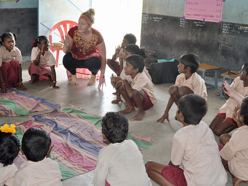 Children at Panchayat Primary School in Southern India