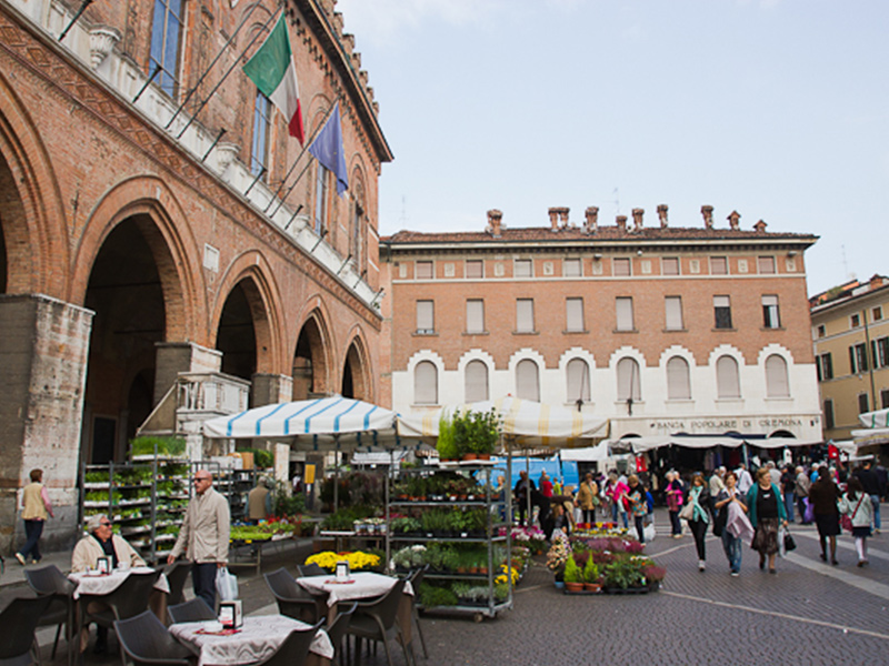 At the centre of Lombardy, Cremona has a lively public market where everyone meets to run errands