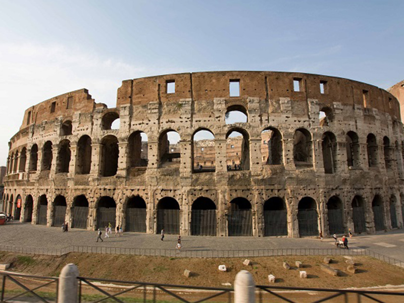 You can't miss the famous Coliseum when you visit Rome