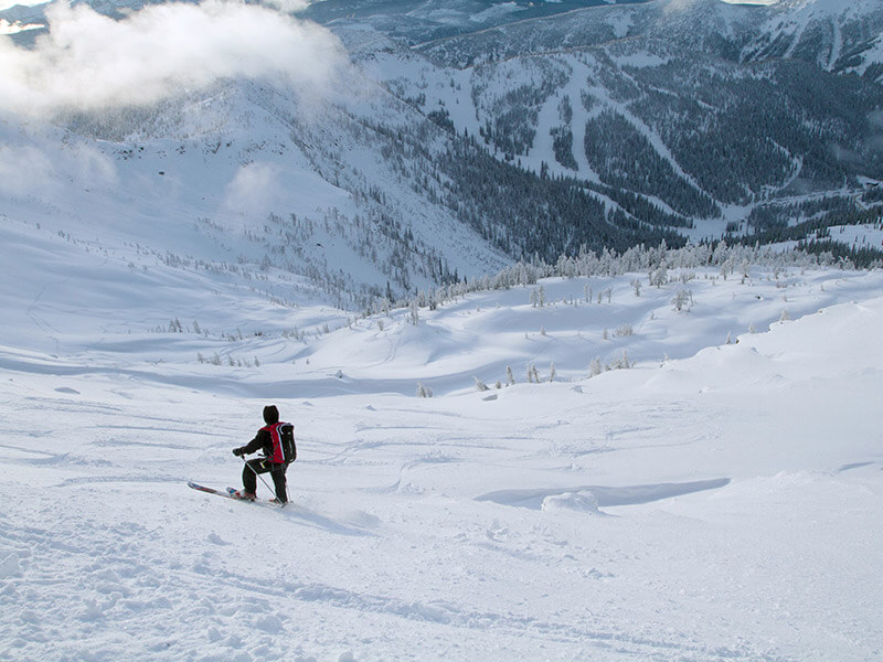 Telemark Skiing Whitewater's Sidecountry, Nelson, BC. Photo credit: Thor Veen.
