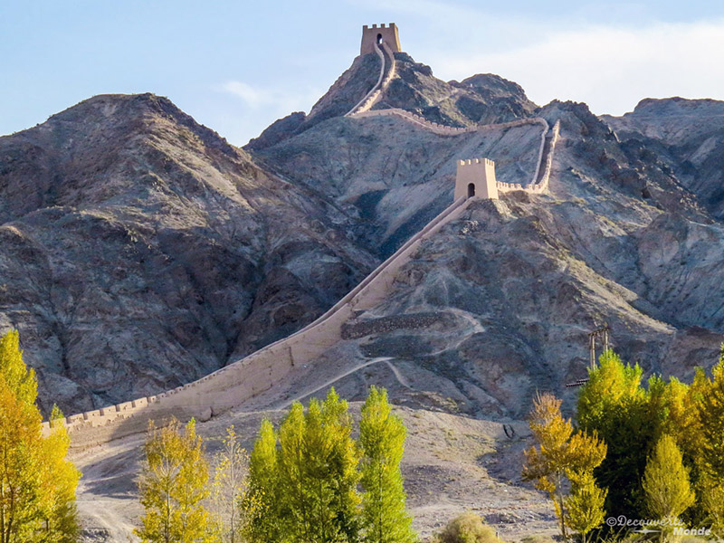 extreme west of the Great Wall of China