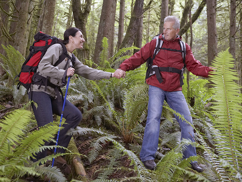 hiking is a low budget and atypical honeymoon vacation activity