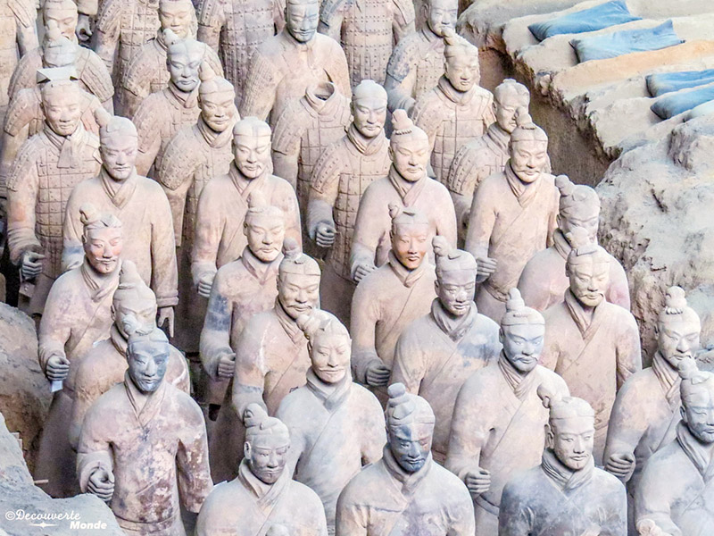 terracotta warriors' army of emperor Qin in China's Silk Road