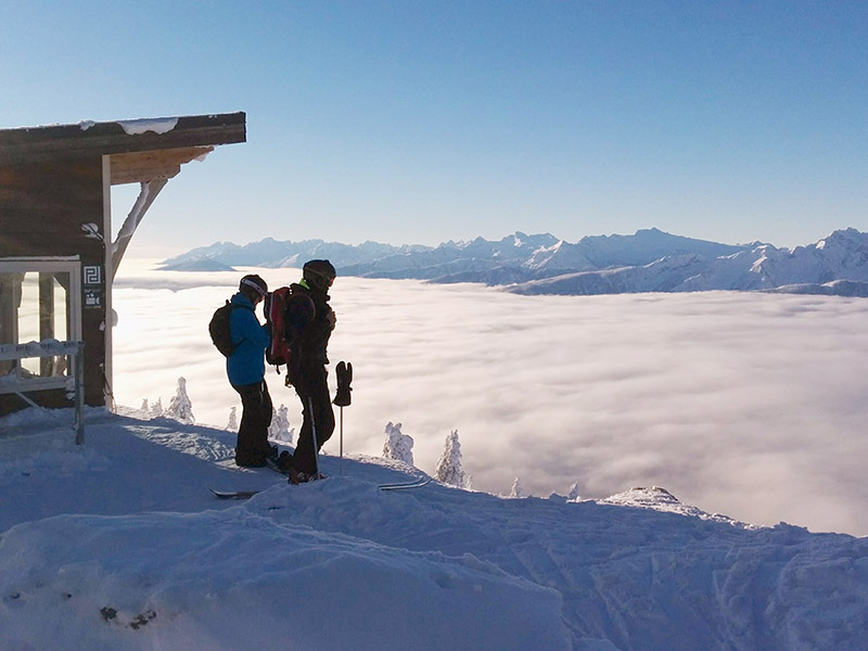 view from Revelstoke mountain resort bc