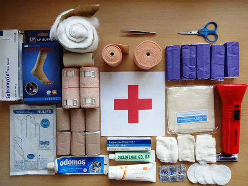 Check out Mapping Megan's travel first aid kit essentials. Photo via Survival Life.