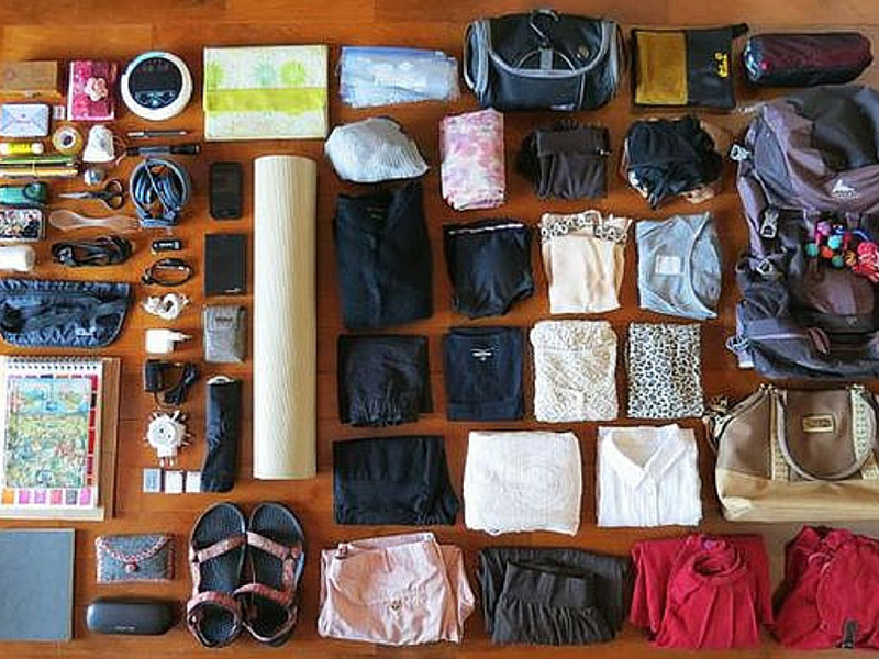 Pack everything you need. Then take out half. You'll end up throwing half of it away anyway! Photo via Malwina.