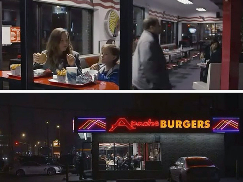 Re-enact Room's burger joint scene at Etobicoke's Apache Burgers (Picture Courtesy - Torontoist)