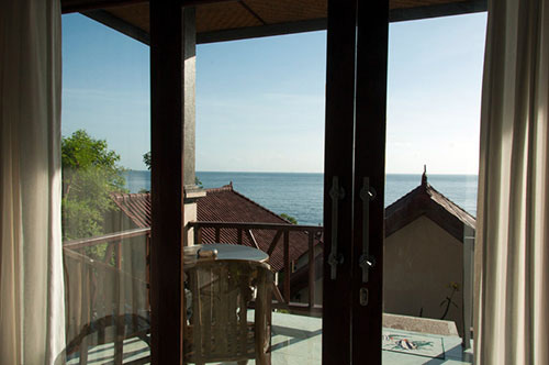 The Bali Sea from our Warung Ary homestay