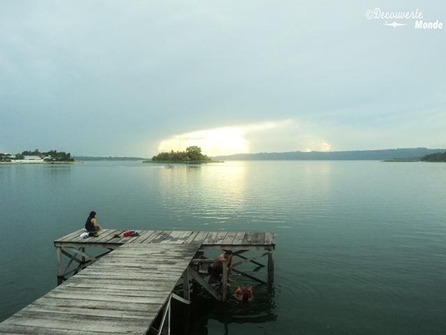 A view of the water in Flores, Guatemala