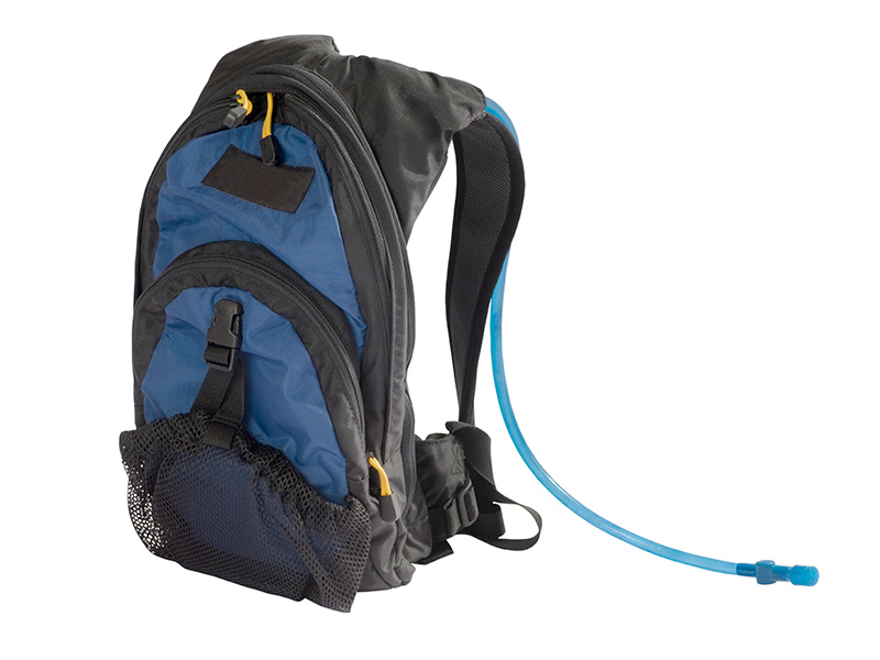 backpack with hydration hose