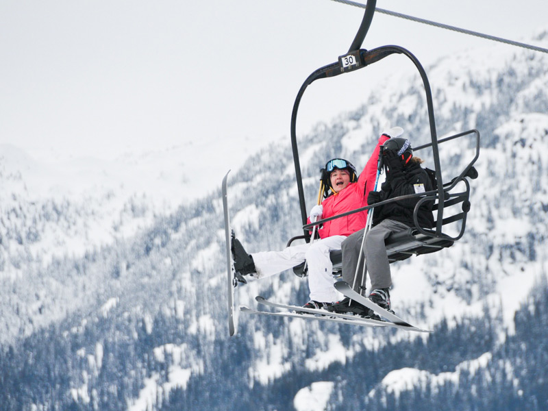 One of the many chairlifts at Whistler where you can enjoy the beautiful views.