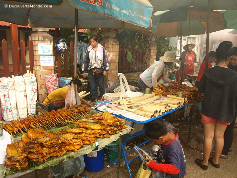 Street food in Vientiane, Laos