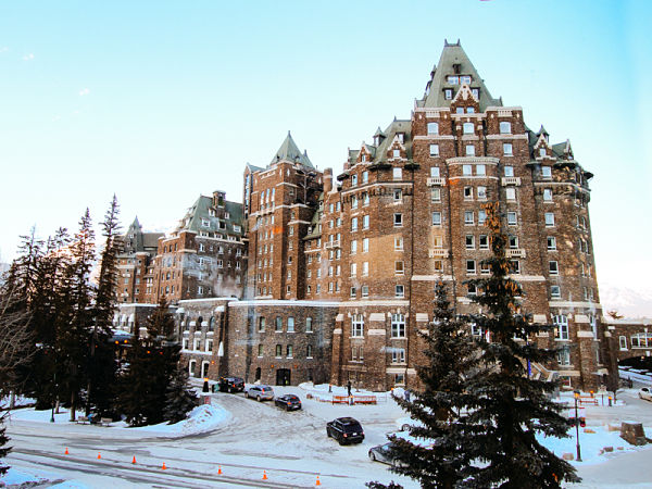 The castle-like Fairmont Banff Springs Hotel.